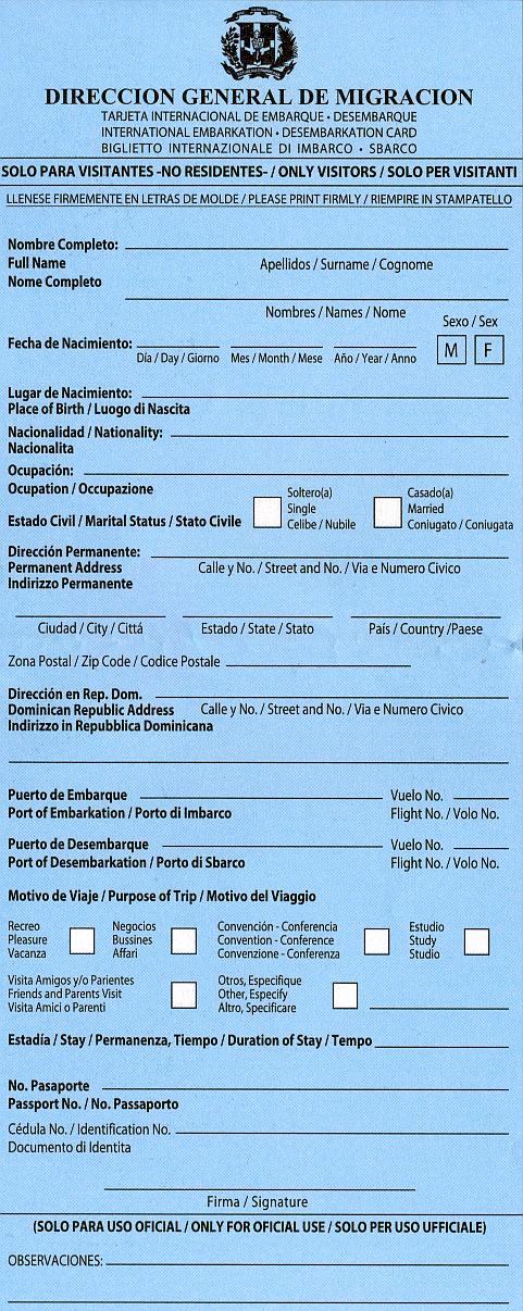 touristenkarte dominikanische republik