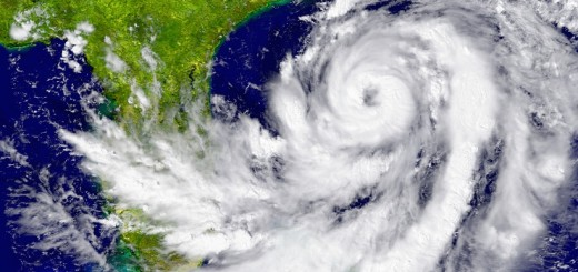 Huge hurricane near Florida in America. Elements of this image furnished by NASA